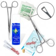 10-Piece Nipple Piercing Starter Kit, 14 Or 12 Gauge