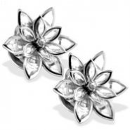 316L Stainless Steel Crystal Flower Screw Fit Plug