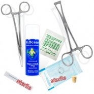 7- Piece Nose (Nostril) Piercing Starter Kit, 18 Or 20 Gauge