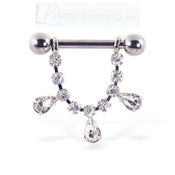 nipple rings shields nipple ring with dangling jeweled