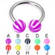 Beach ball horseshoe ring, 14 ga