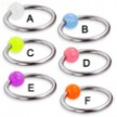Captive bead ring with glow-in-dark ball, 14 ga