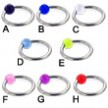 Captive bead ring with UV ball, 14 ga