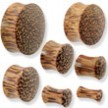 Pair Of Organic Coconut Wood Plugs