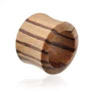 Pair Of Organic Natural Zebra Wood Saddle Tunnels