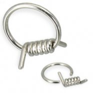 Wire captive bead ring, 14 ga